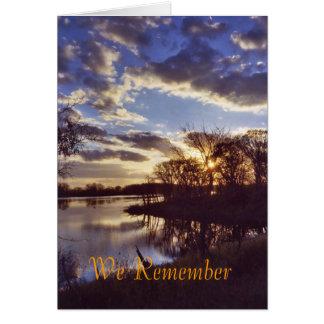 Lake sunset1 card