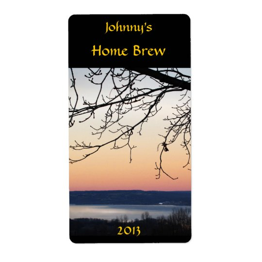Lake Sunset Beer Label