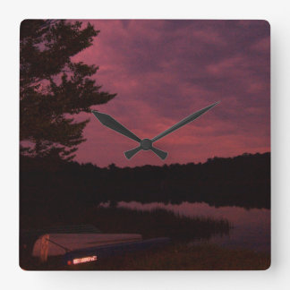 Lake Sunset Clock