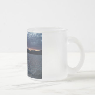 Lake Sunset Frosted Glass Mug