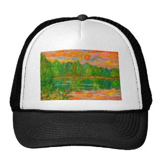 Lake Sunset Mesh Hat