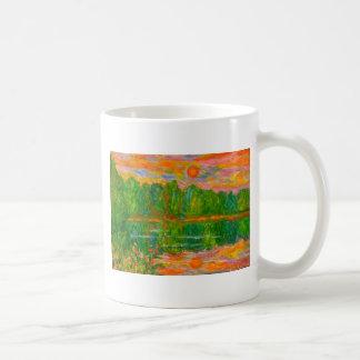 Lake Sunset Coffee Mugs