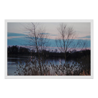 Lake Sunset Photo Poster