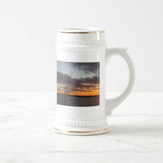 Lake Sunset Stein Mugs