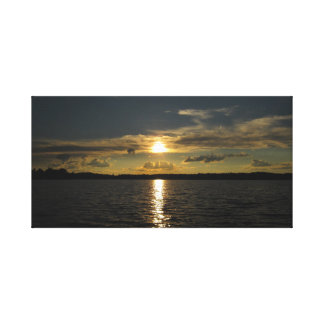 Lake Sunset Stretched Canvas Print