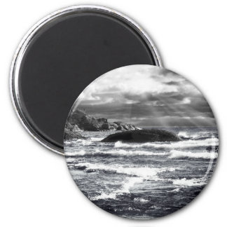 Lake Superior Lightrays 6 Cm Round Magnet