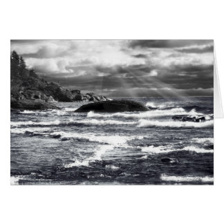 Lake Superior Lightrays Greeting Card