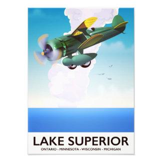 Lake Superior prop vintage travel poster