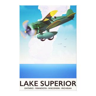 Lake Superior prop vintage travel poster Canvas Print
