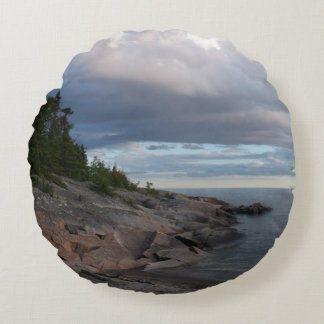 Lake Superior Round Cushion