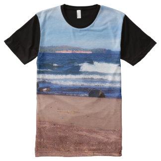 Lake Superior Shoreline All-Over Print T-Shirt
