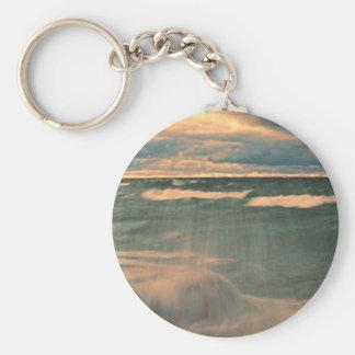 Lake Superior - Stormy Sunset Key Ring