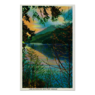 Lake Sutherland new Port Angeles, WA Poster