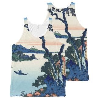 Lake Suwa by Hokusai All-Over Print Singlet