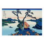 Lake Suwa, by Katsushika Hokusai Poster