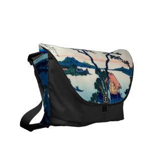 Lake Suwa in Shinano Province Messenger Bag