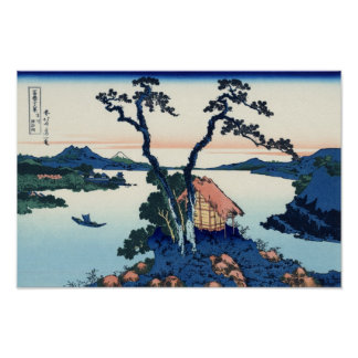 Lake Suwa in Shinano Province Poster