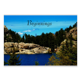 Lake Sylvan Poster from South Dakota/Motivational
