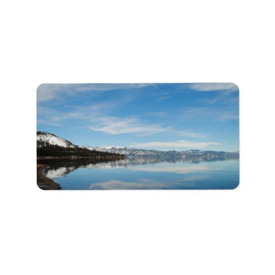 Lake Tahoe Address Label
