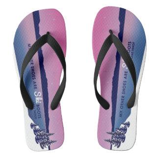 Lake Tahoe Alpen Glow Ski Boot Flips Thongs