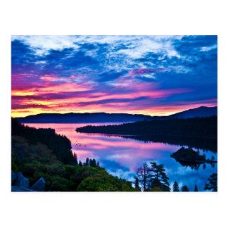 Lake Tahoe at Dusk Postcard