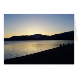 Lake Tahoe at Sunset Greeting Card