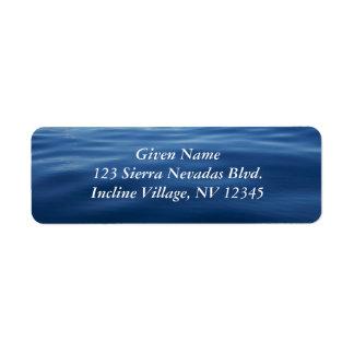 Lake Tahoe Avery Label