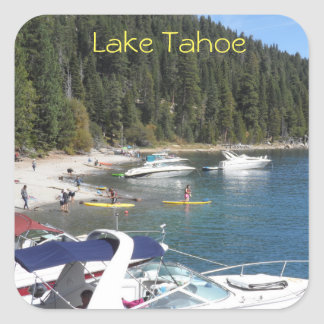 Lake Tahoe Boats Square Sticker