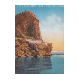 Lake Tahoe, CA - Cave Rock from the Lake View Canvas Print