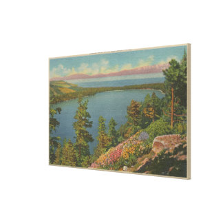 Lake Tahoe, CA - Fallen Leaf Lake and Lake Tahoe Canvas Print
