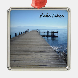 Lake Tahoe, CA Silver-Colored Square Decoration