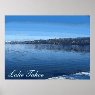 Lake Tahoe California artistic scenic poster