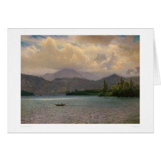Lake Tahoe, California by Bierstadt (0102a) Greeting Card