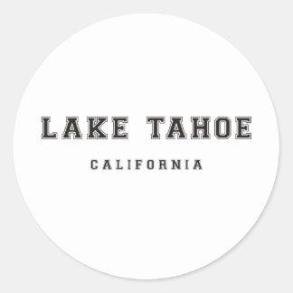 Lake Tahoe California Classic Round Sticker
