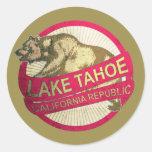 Lake Tahoe California vintage bear stickers