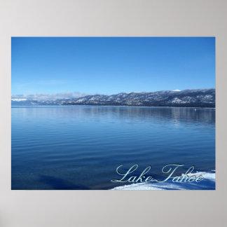 Lake Tahoe California waters edge scenic poster