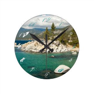 Lake Tahoe Landscape Wallclock