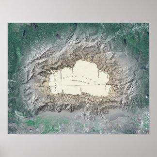 Lake Tahoe map Poster