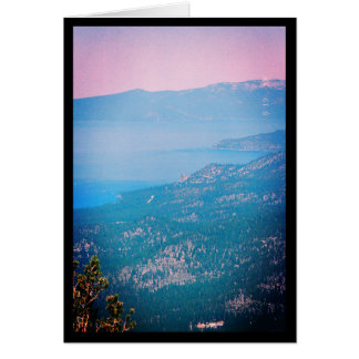 Lake Tahoe Mist- Song of Sol. 2:3 Greeting Card