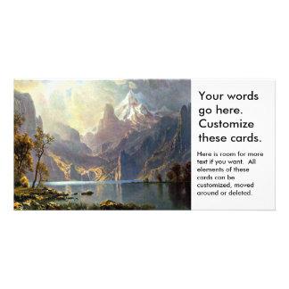 Lake Tahoe painting Nevada art by Albert Bierstadt Customised Photo Card