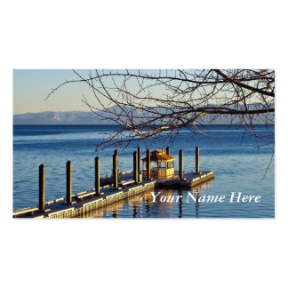 Lake Tahoe Pier at Sunset Business Cards