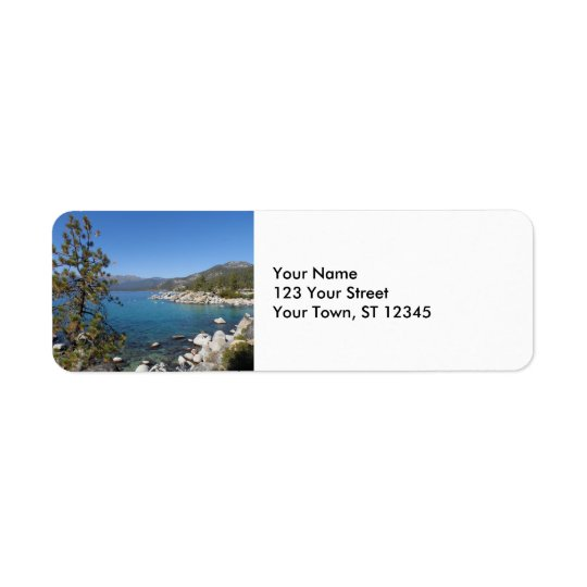 Lake Tahoe Return Address Label