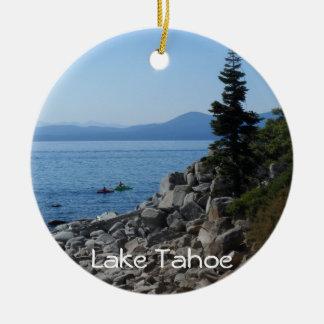 Lake Tahoe Round Ceramic Decoration