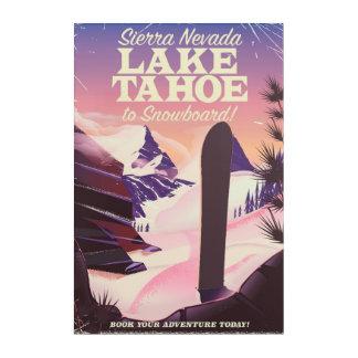 Lake Tahoe Sierra Nevada USA Snowboarding poster Acrylic Wall Art