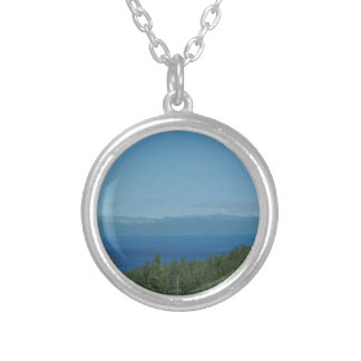 Lake Tahoe Silver Plated Necklace