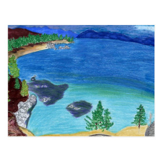 Lake Tahoe Sketch Postcard