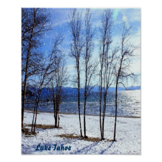Lake-Tahoe-snow, canvas Poster
