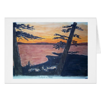 lake tahoe south shore greeting card
