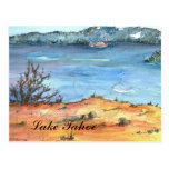 Lake Tahoe Summer Beach Postcard
