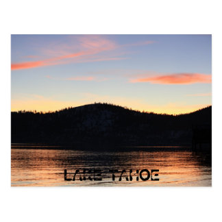 Lake Tahoe Sunset with shadow 1 Postcard